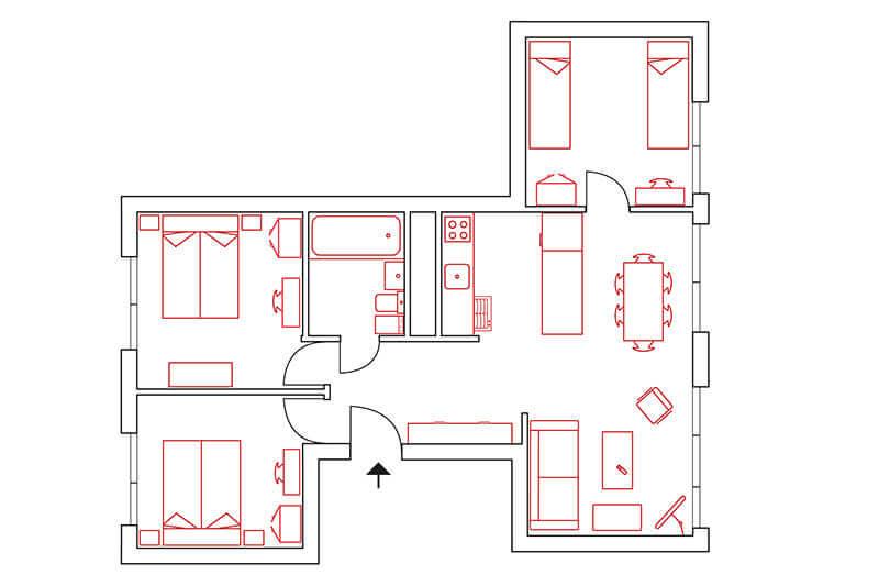 Great Home Berlin Möbliertes Wohnen Wohnung 12 Grundriss